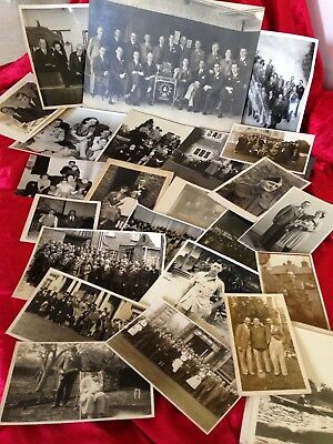 Collection / job Lot of Old Vintage  B & W Photos of People / Groups