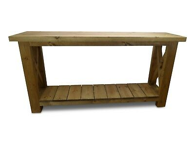 Farmhouse Country Rustic Solid Wood Console Table Handcrafted