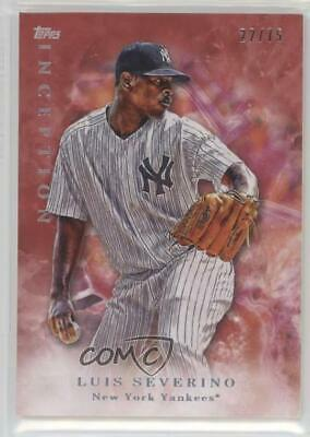 2017 Topps Inception Red #82 Luis Severino New York Yankees Baseball Card