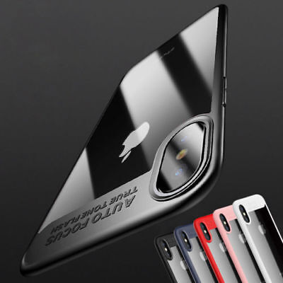 For Apple iPhone Xs Max XR X Armor Slim Thin Clear Case Shockproof Hybrid Cover