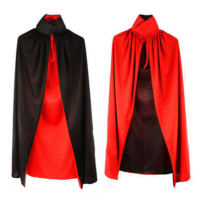 Vampire Cape Dracula Devil Cloak Fancy Adult Costume Masquerade Party Halloween