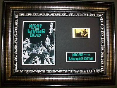 NIGHT OF THE LIVING DEAD Framed Movie Film Cell Memorabilia Compliments poster