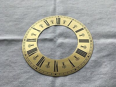 Brass Coloured Clock Chapter Ring With Roman Numerials