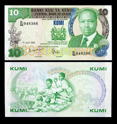 KENYA 10 SHILLINGS 1988 Banknote with P 20 UNC