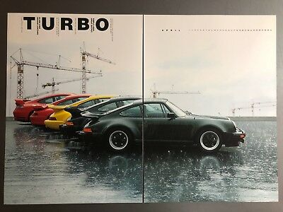 "2006 Porsche ""Turbo"" 911 Turbo Coupe Advertising 2 Poster Set RARE! Awesome L@@K"