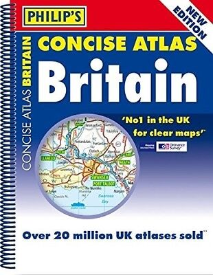 Philip's Concise Atlas Britain: Spiral A5, Very Good Books