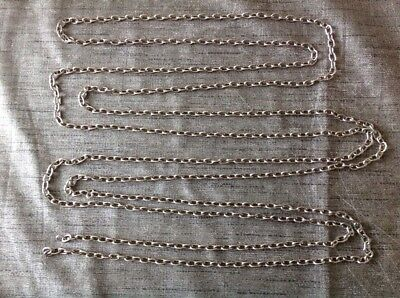 Clock Chain 12' Long Approx Links 42 Per Foot Ex Clockmakers Clock Spare Parts
