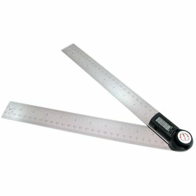 GemRed 82305 Digital Angle Finder (300mm/11-Inch Stainless Steel Ruler)