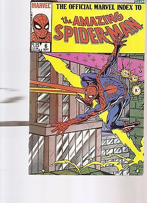 the official marvel index to the amazing spider-man #6  1985   FREE SHIPPING