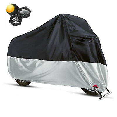 Motorcycle Cover Rain Snow All Weather Protector XXL For Harley Davidson Fat Boy