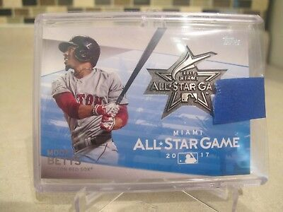 Mookie Betts Topps 2017 All Star Game Relic Medallion Boston Red Sox