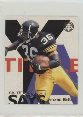 1997 Fleer Goudey YA Tittle Says #2 Jerome Bettis Pittsburgh Steelers Card