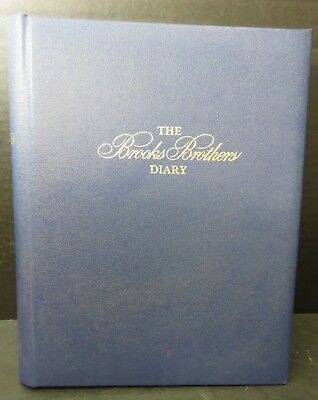 Vintage 1986 Brooks Brothers Record A Day Diary Unused Like New Condition