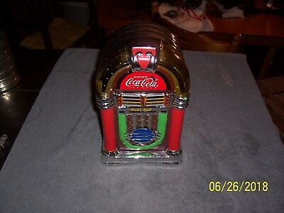 Coca-Cola  Rock N Roll Juke Box Shaped Cookie Jar By Gibson 2002