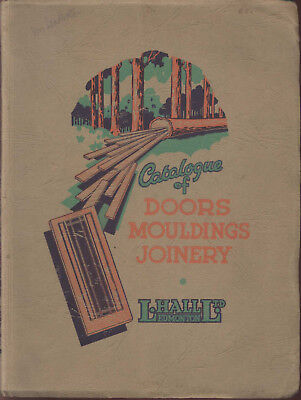 Vintage Catalogue Hall Edmonton Doors Mouldings Joinery Timber Wood