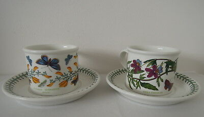X2 Portmeirion Botanic Garden 1972 Cup and Saucer Heartsease & Broom