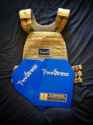 5.11 Tactec Weighted Vest With 20lb/9.1kg Travail Plates (Choice Of Colours)