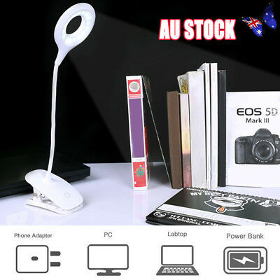 Portable Travel Flexible LED Clamp Clip-On USB Reading Book Light Desk  Lamp Y4