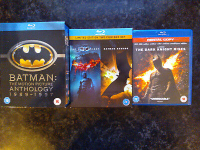 Batman - The Motion Picture Anthology 1989-1997 & Dark Knight Trilogy Bluray