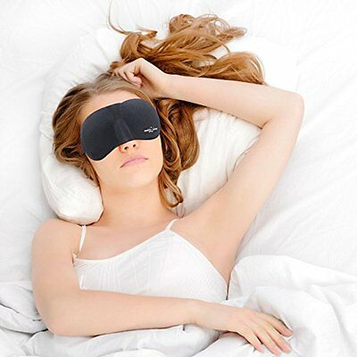 Sleeping Kit - Best Eye Mask with Comfortable Carry Pouch & Ear Plugs