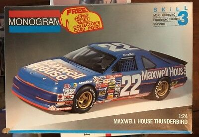 124 MONOGRAM 1991 MAXWELL HOUSE FORD THUNDERBIRD Parts Are Sealed