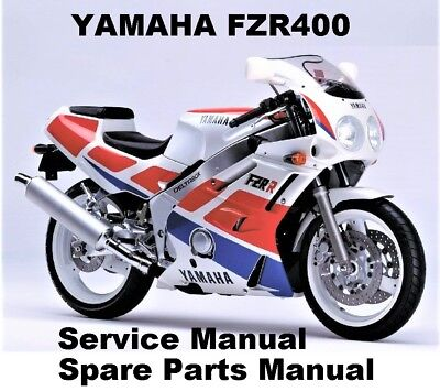 YAMAHA FZR400 FZR 400 SP Owners Service Workshop Repair Parts Manual PDF on CD-R