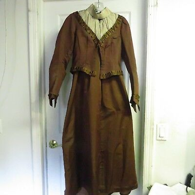 Victorian Lady's Jacket and Skirt, Very Rare Condition, Mid-Late 1800's, Antique