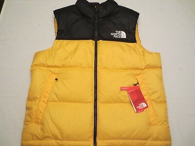 8533ee4938 THE NORTH FACE NOVELTY NUPTSE VEST TNF YELLOW BLACK Mens SIZE XL NWT ...