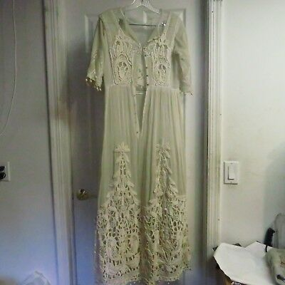 Victorian Lady's Sun Dress, Scarce, Lace, Mid-Late 1800's, Antique