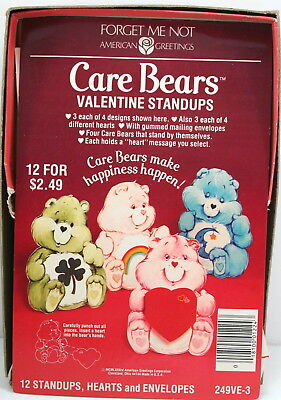 1984 Care Bears Valentines Standups Cards American Greetings Incomplete Set
