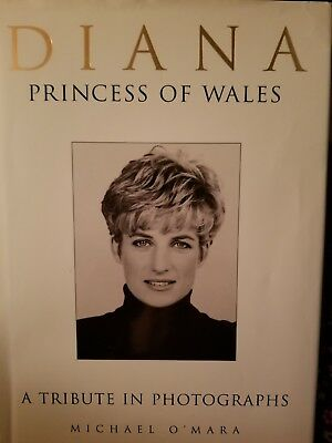Diana Princess Of Wales A Tribute In Photographs Pictorial 1997 Hardcover