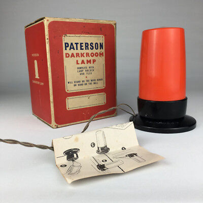 Paterson Dark Room Lamp VGC (C1960) Original box and instructions - working