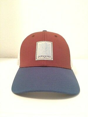 344f7a07147ad ULTRA RARE NEW Patagonia Linear Evolution Lopro Mesh Hat Pinecone Brown    blue !