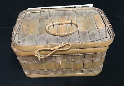 Small Vintage Sewing Basket 1930s (AA)