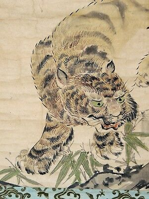 Japanese Scroll of a Tiger - c. late 1800's - Fine Work by Unknown Artist