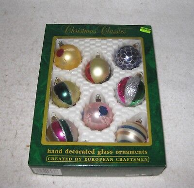 Christmas Holiday Tree Decoration - Lot of 8 Vintage Ornaments
