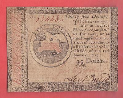 1/14/1779 $35 PHILADELPHIA Continental Currency!            x7a