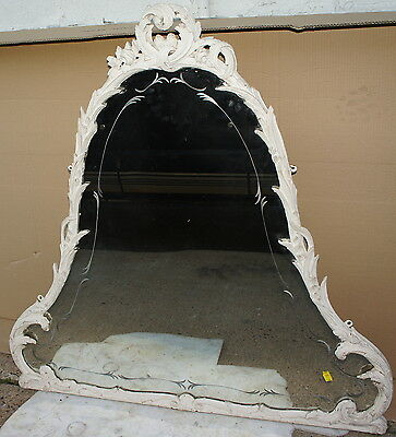Vintage Mirror Carved Solid wood frame OLD antique mid century NJ triangular