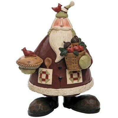 Williraye Studio Natural Baker Santa Claus Pie Christmas Figure