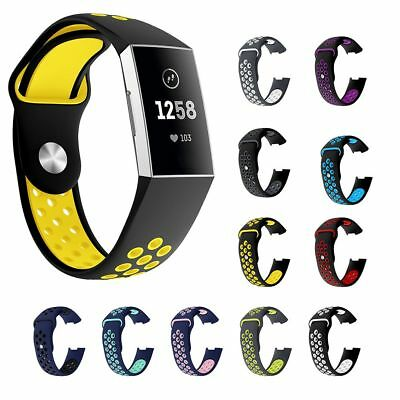 New Sports Silicone Bracelet Strap Watch Band Replace For Fitbit Charge 3 20mm