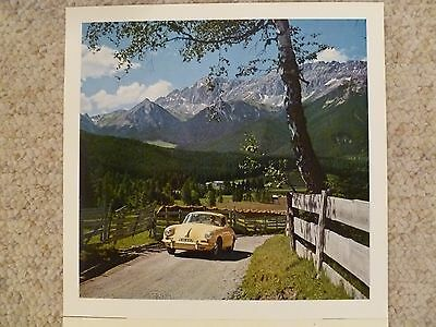 1963 Porsche 356-B T6 Sunroof Coupe Showroom Advertising Poster RARE!! Awesome
