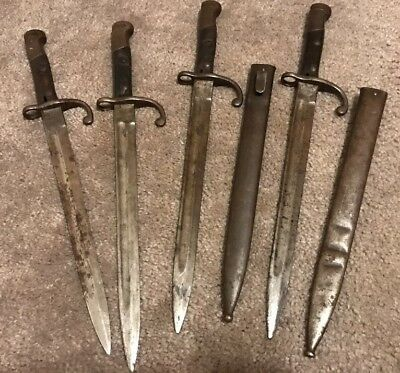 Lot Of Four Brazil 1908 Bayonets Two With Scabbard