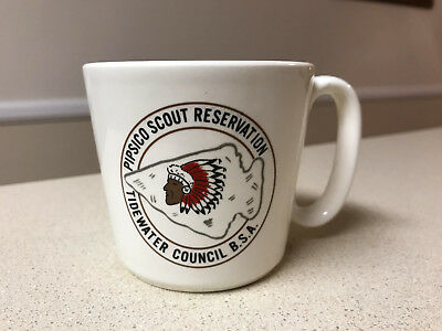 ⚜ RARE Boy Scout BSA PIPSICO SCOUT RESERVATION TIDEWATER COUNCIL Coffee Mug Cup