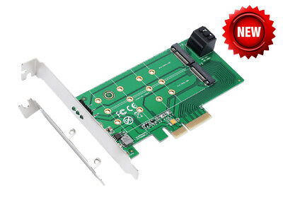 IOCrest PCIe x 4 to NGFF(PCIe) SSD+SATA to 2 x NGFF(SATA)adapter card IO-PCE4X-2