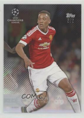 2015 2015-16 Topps UEFA Champions League Showcase Black #40 Anthony Martial Card