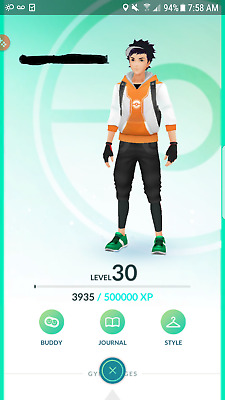 Pokemon-Go-account Level 30 - No team - No Ban
