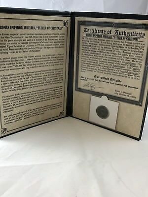 Roman Emperor Aurelian Father of Christmas Bronze Coin w/ cert of authenticity