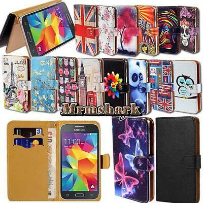 Flip Leather Wallet Card Stand Cover Case For Samsung Galaxy Grand Phones