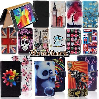 Flip Leather Wallet Card Stand Cover Case For Samsung Galaxy S S2 S3 S4 S5