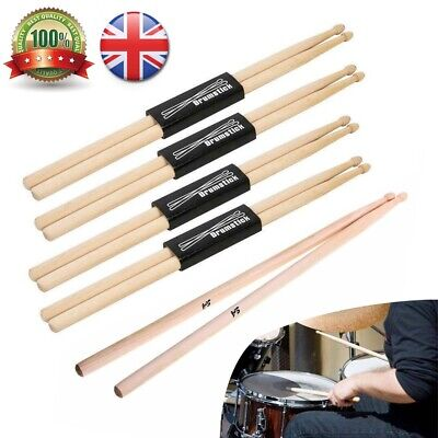 10pairs Professional  Drum Sticks 5A Drumsticks Maple High Quality Wood Premium